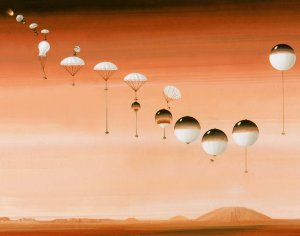 mars landing with balloons - photo #8