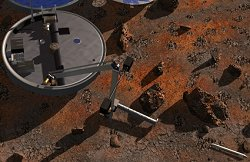 La taupe de Beagle 2 en action