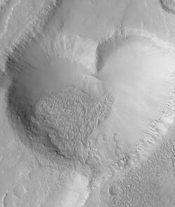 Le coeur de Mars (image Mars Global Surveyor)