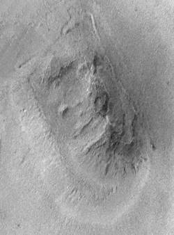 Le visage de Mars vu par Mars Global Surveyor le 5 avril 1998