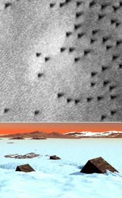 Les monolithes de Mars