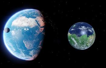 taille M LOT Fragments de la Lune et de la planète Mars